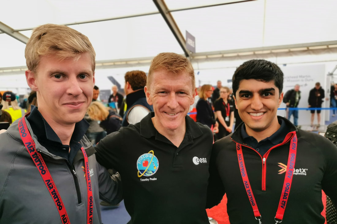 Hamzah and Alan with Tim Peake